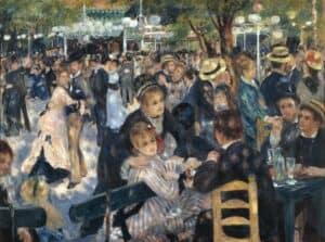 Pierre Auguste-Renoir, Le Bal du Moulin de la Galette, 1876. Musée d'Orsay, Paris.
