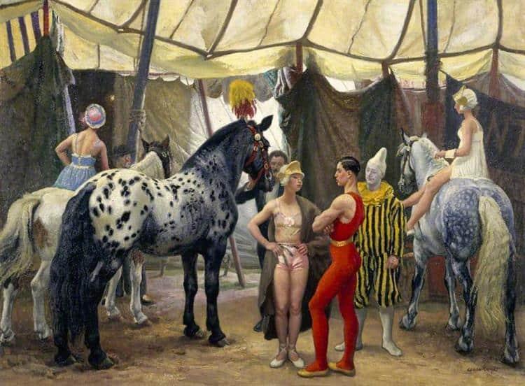 Dame Laura Knight. Circus Matinee, c. 1938, Pannett Art Gallery, Whitby, England, UK
