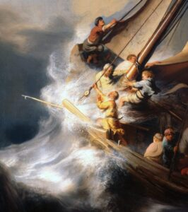 The storm on the sea of Galilee detail