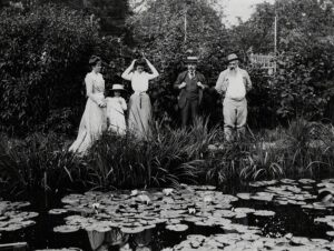 Paul Durand-Ruel and Claude Monet in Giverny, 1900