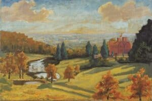 pinturas de Winston Churchill Vista de Chartwell