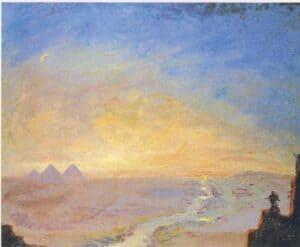 pinturas de Winston Churchill Piramides